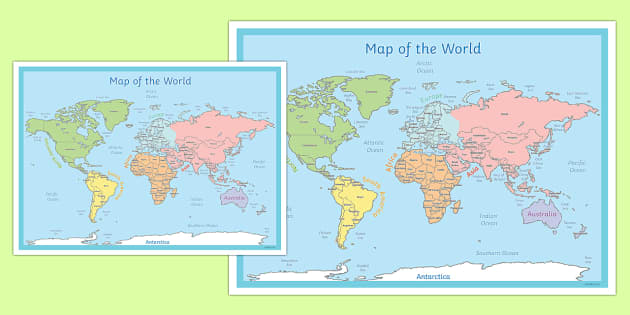 World Map Poster  world map poster display world map land