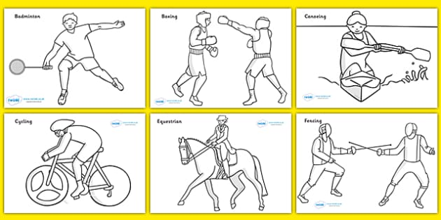 sports activities coloring pages - photo#16