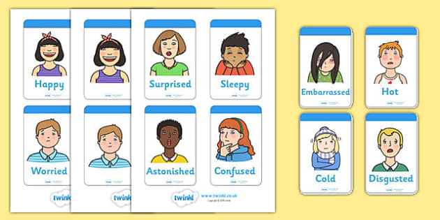 Ourselves Emotion Word Cards - emotions, word cards, flashcards,  feelings, special needs, labels