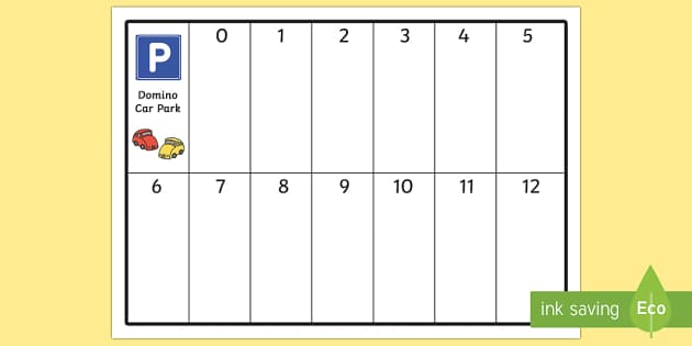 Domino Car Park - dominos, numeracy, games, maths, maths games