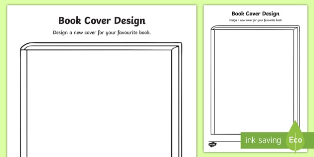 Book cover design activity book week cover design english for Design a book jacket template
