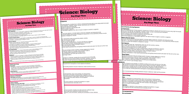 ks3 science biology curriculum overview