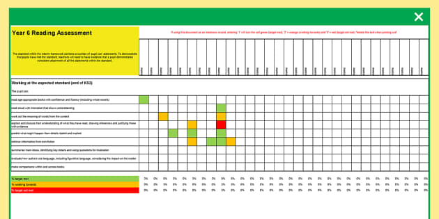 Y6 NC 2014 Interim Assessment Spreadsheet Reading, Writing