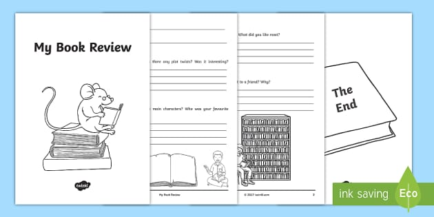 Interactive Book Review Writing Template  Story Review
