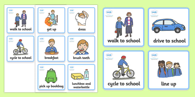 Visual Timetable Getting Ready For School Boys Getting