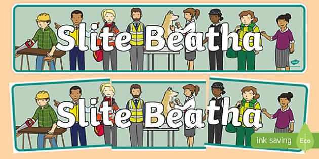 Slite Beatha Display Banner-Irish