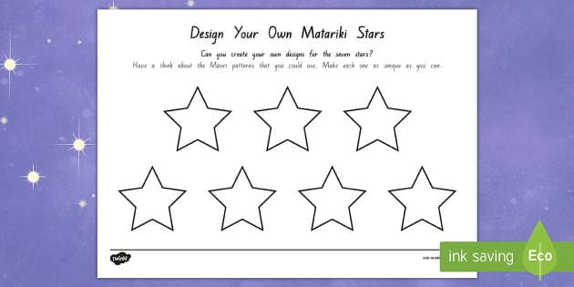 Matariki Seven Stars Design Activity - New Zealand Matariki