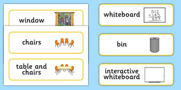 Classroom Furniture Nz : Classroom furniture labels