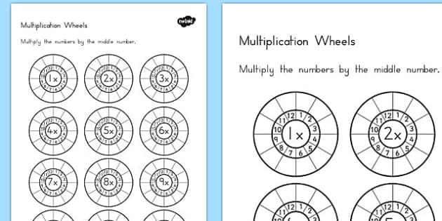 multiplication wheels worksheet australia multiplication. Black Bedroom Furniture Sets. Home Design Ideas