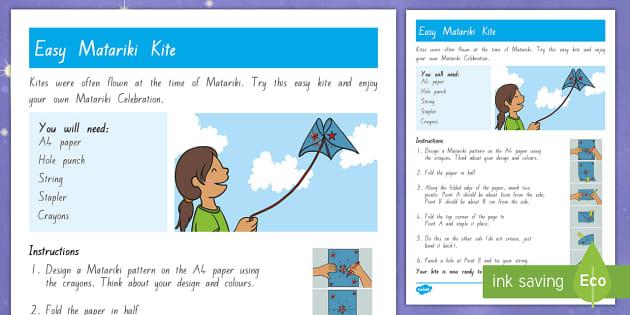 easy kite making instructions