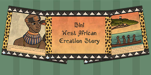 african creation story from uganda Partnership with african ark primary school, uganda  partnership with african women's dignity foundation,  the value of a person.