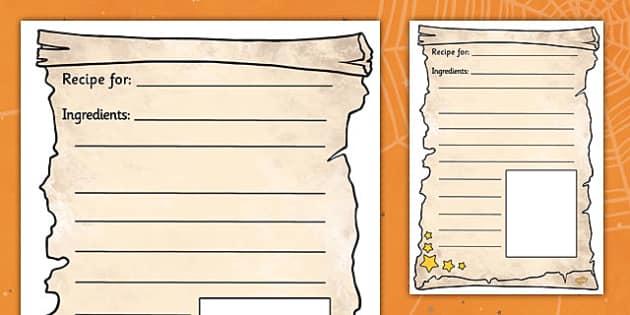 Magic Potion Recipe Writing Frames - magic, potion, recipe