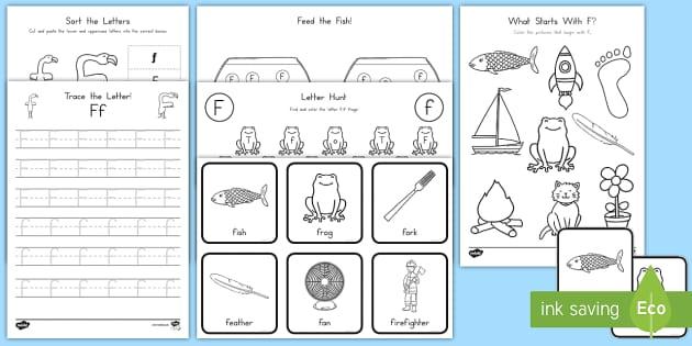 Letter F Activity Pack - Alphabet Packets, EYFS, KS1, Letter F, Kindergarten, PreK, Letter Formation, Letter Identification,