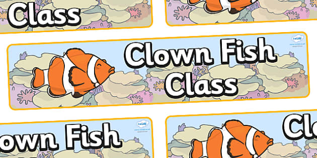 Clownfish Themed Classroom Display Banner - Themed banner, banner, display banner, Classroom labels, Area labels, Poster, Display, Areas