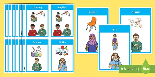 BSL Classroom Flashcards
