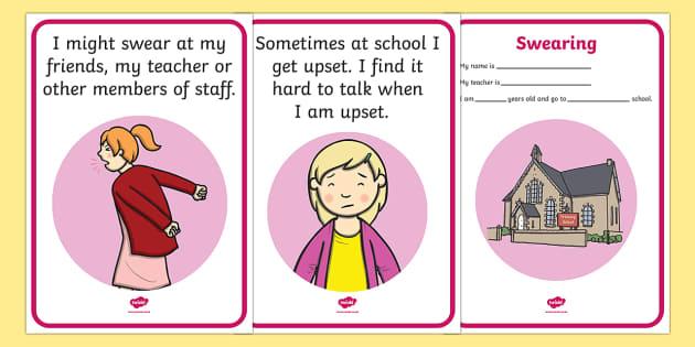 Swearing Social Situation - swearing, swear, social stories, social story, story, social, situation