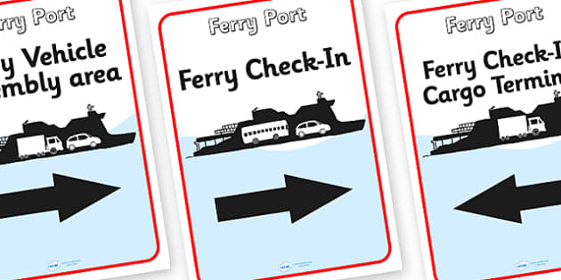 Ferry Port Role Play Display Posters - ferry port, role play, ferry port role play, display posters, ferry port posters, posters for display, port posters