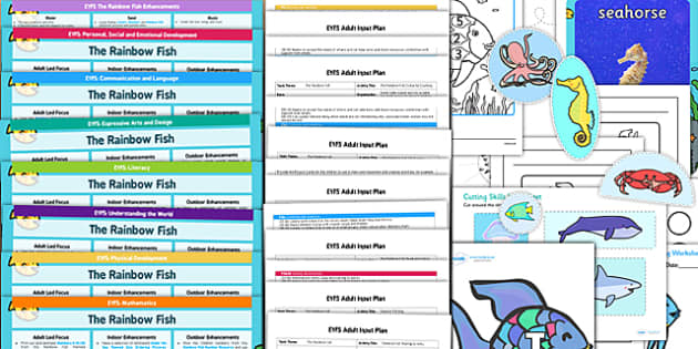Eyfs lesson plan enhancement ideas and resources pack to for Rainbow fish lesson plans