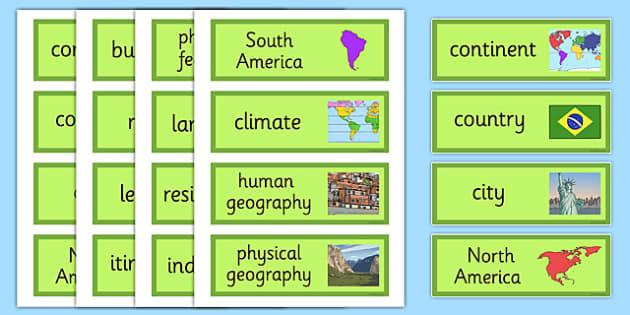 The Amazing Americas Word Cards - amazing americas, word cards, word, cards, americas