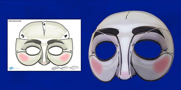 3D Guy Fawkes Face Mask - 3d, guy fawkes, face mask, face, mask, role-play, gunpowder plot, bonfire night