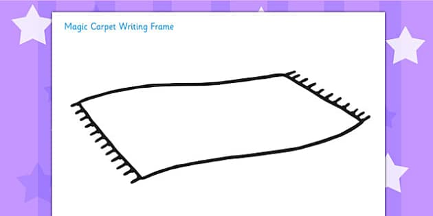 Magic Carpet Writing Frame Magic Carpet Aladdin Stories