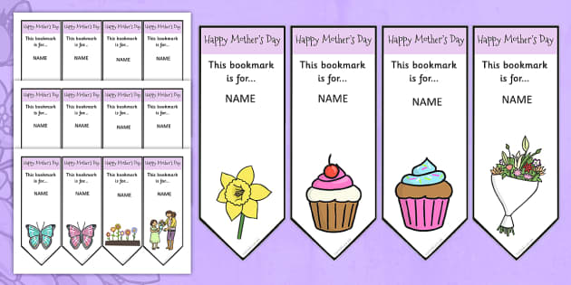 Mothers Day Editable Bookmarks - mothers day, bookmarks