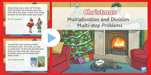 UKS2 Multiplication and Division Multi-step Word Problems PowerPoint