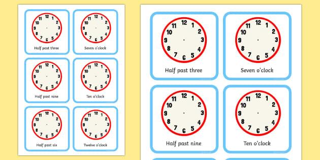clock faces half past and o 39 clock activity sheet blank clock. Black Bedroom Furniture Sets. Home Design Ideas