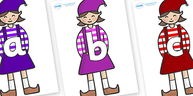 Phoneme Set on Elf (Girl) - Phoneme set, phonemes, phoneme, Letters and Sounds, DfES, display, Phase 1, Phase 2, Phase 3, Phase 5, Foundation, Literacy