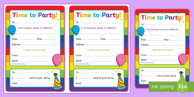 Generic Party Invitations - generic, party, generic party