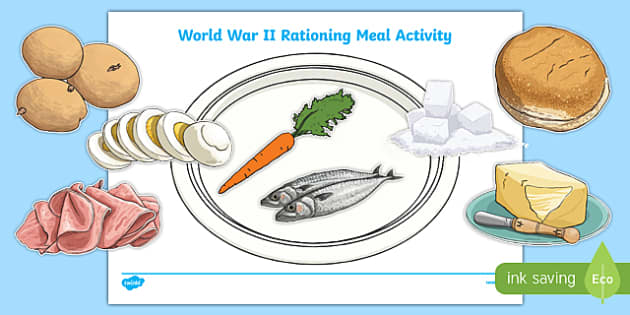 Ww2 Rationing Meal Activity Ww2 World War Two Rationing