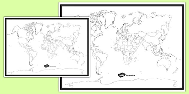 Blank World Map  blank world map world map activity world