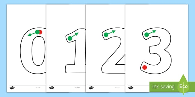 Trace, Tracing, Motor Skills, Numbers