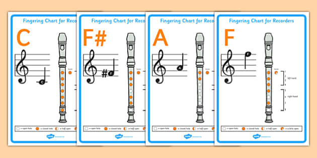 Recorder Fingering Display Posters