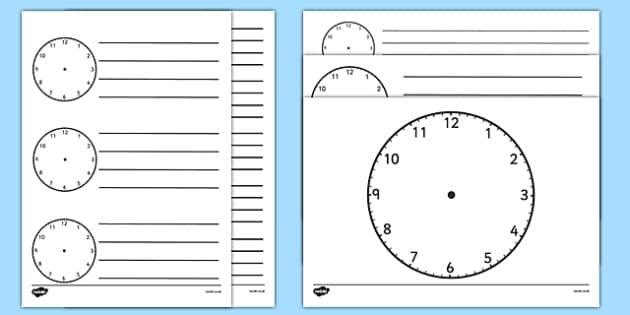 Blank Clock Templates  Blank Clock Templates Blank Clock
