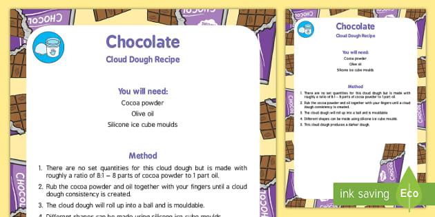 Chocolate Cloud Dough Recipe - Easter, chocolate, cloud dough, recipe, chocolate cloud dough, cloud, dough