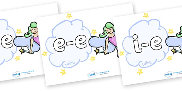 Modifying E Letters on Fairies (Plain) - Modifying E, letters, modify, Phase 5, Phase five, alternative spellings for phonemes, DfES letters and Sounds