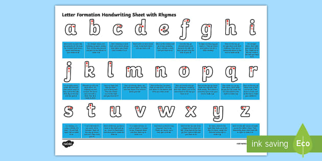 Handwriting Letter Formation Video
