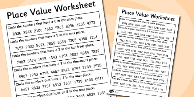 place value worksheet 4 digits place value worksheet 4. Black Bedroom Furniture Sets. Home Design Ideas