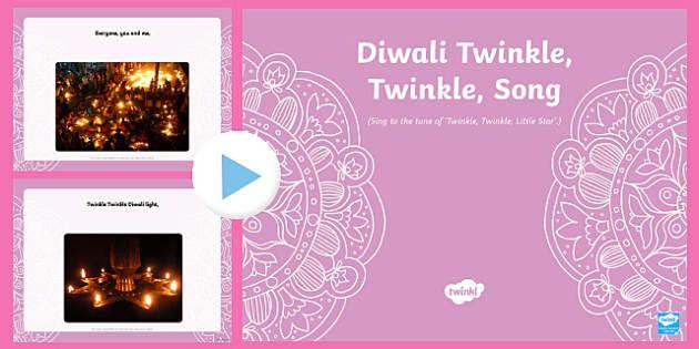 Diwali Twinkle, Twinkle Song PowerPoint