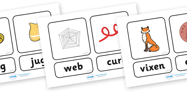 Phase 3 What's In The Box Cards - Letters and Sounds, cards, Phase 2, Phase two, Foundation, Literacy, Mnemonic Images