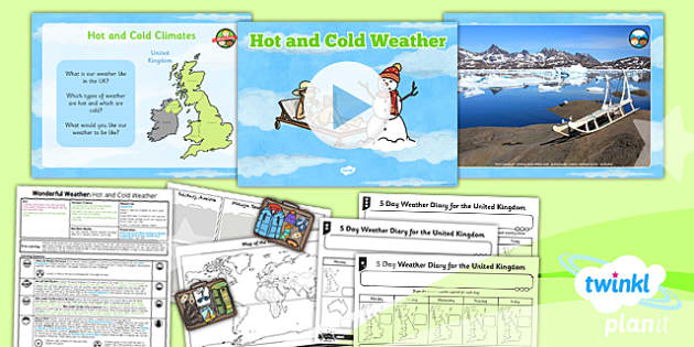 Geography Wonderful Weather Hot and Cold Weather Year 1 Lesson