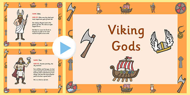 viking gods powerpoint and worksheet the vikings viking gods. Black Bedroom Furniture Sets. Home Design Ideas