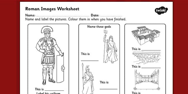 roman images labelling worksheet ancient rome roman. Black Bedroom Furniture Sets. Home Design Ideas