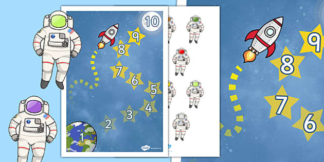 astronaut  space  reward chart