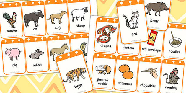 Chinese New Year Flashcards - chinese new year, visual aids