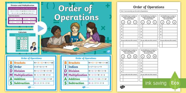 Worksheets For 3rd Grade Order Of Operations Bodmas Bidmas Teaching Pack  Order Mailbox Magazine Worksheets with Classification Worksheet Biology  Pythagoras Theorem Worksheet Pdf Word