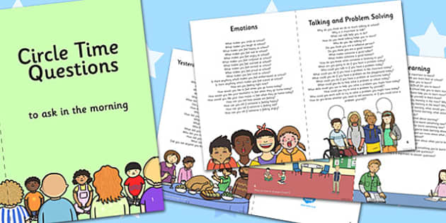 100 Circle Time Questions to Ask in the Morning Booklet - circle time