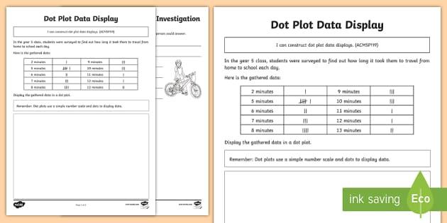 dot plot data display activity sheet worksheet dot plot dot. Black Bedroom Furniture Sets. Home Design Ideas