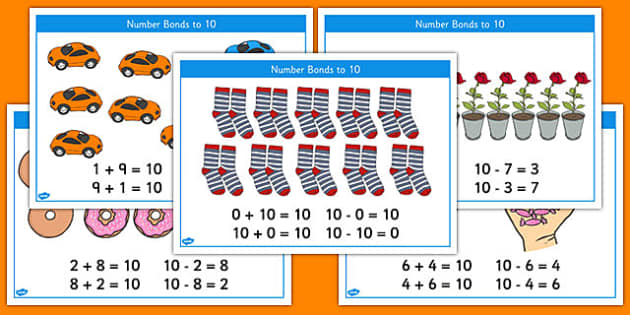 Number Bonds to 10 Stories Inverse Number Sentences - number bonds, 10, stories, number, bonds, inverse